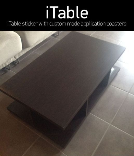 Homemade iPhone Inspired Coffee Table: the iTable