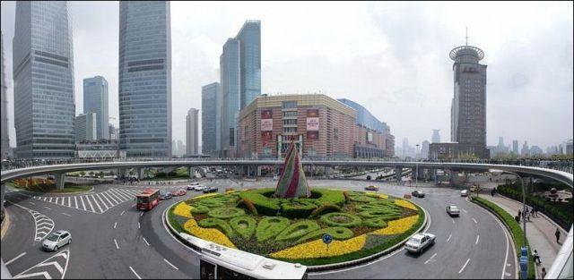 One-of-a-kind, Circular Pedestrian Bridge in China
