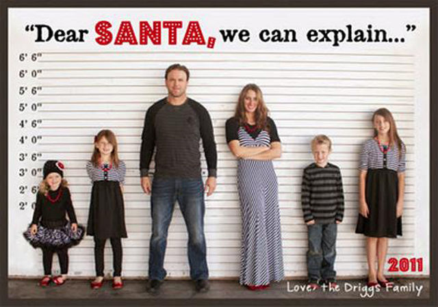 Funny christmas card idea