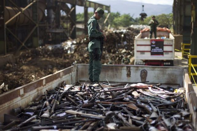 Mass Destruction of Illegal Weapons