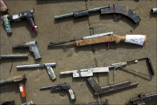 Mass Destruction of Illegal Weapons