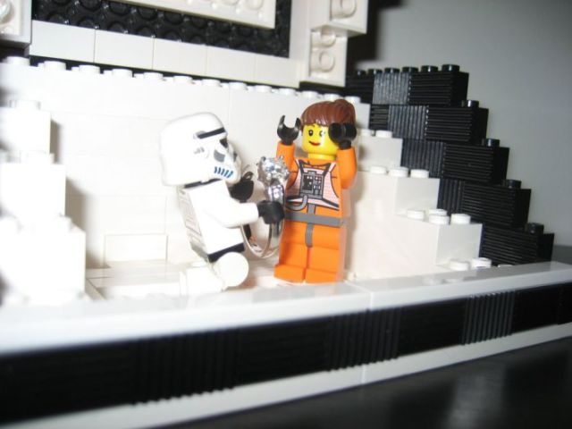 Nerdy, Star Wars Themed Proposal Built from Lego