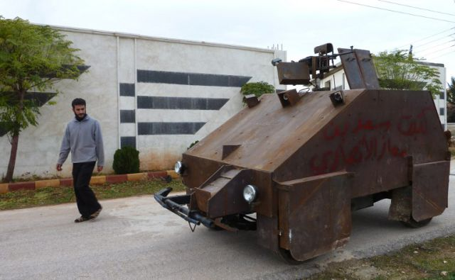 Syrian Rebels Reveal Homemade Combat Vehicle