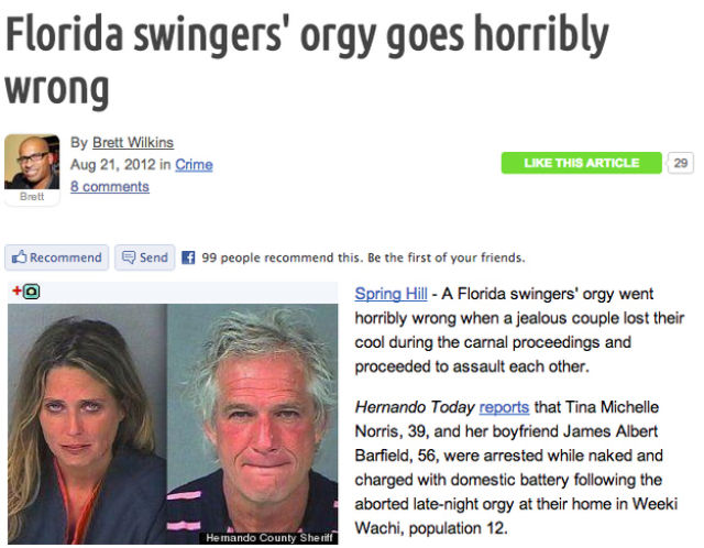Some of the Crazy Stuff That Happened in Florida This Year
