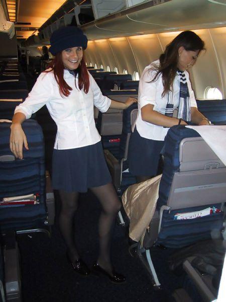 Stewardesses Show off Their Fun Side
