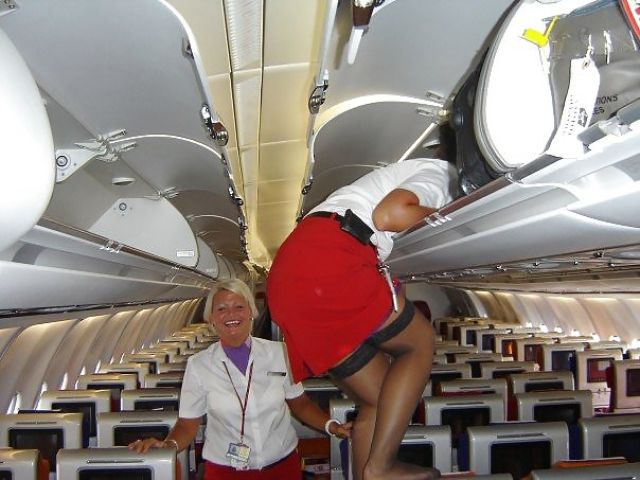 Stewardesses Show off Their Fun Side