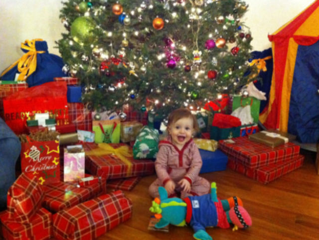 Happy and Excited Children on Christmas Morning