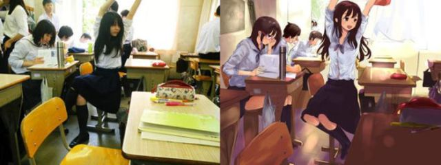Anime Replicas of Real Life Girls