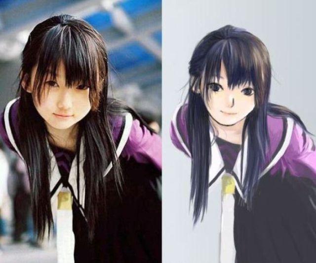 Anime Replicas of Real Life Girls