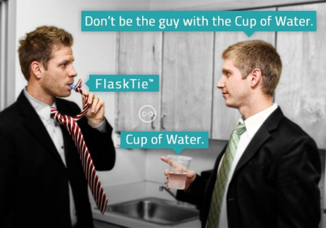 "The ""Flask Tie"" Gives a New Meaning to Office Drinks"