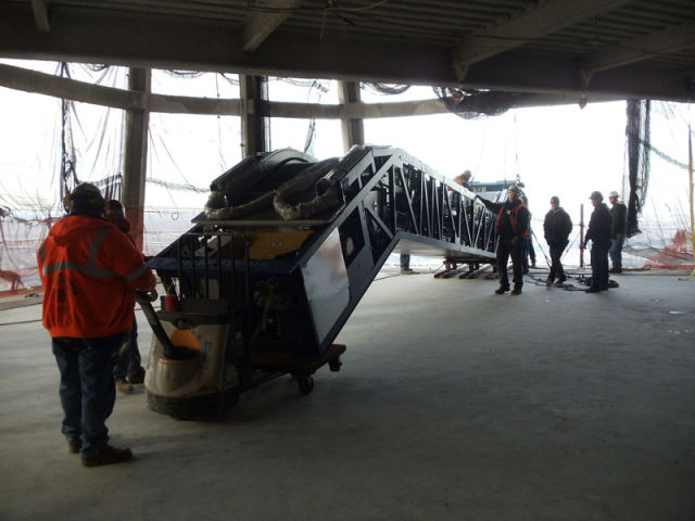 Lifting the Escalator of the 101st Floor of the WTC