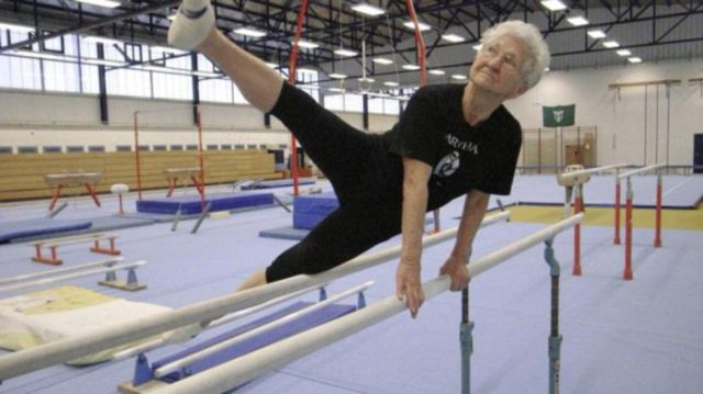 Grandma is 86 and Swinging