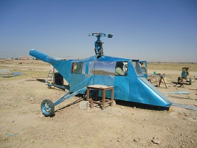 Home-Made Helicopter To Protect A Country