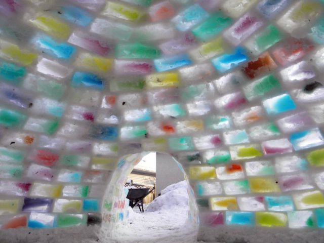 Homemade Multicoloured Igloo