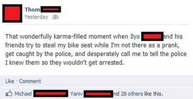 Gotta Love Karma!