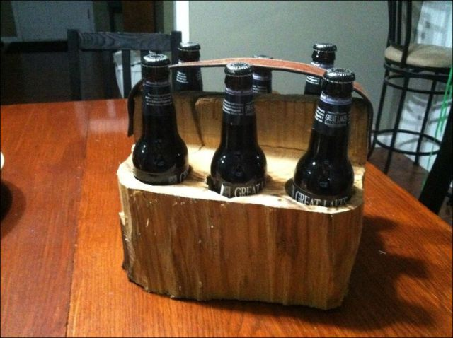 How to Turn a Log Into a Custom Six Pack Carrier