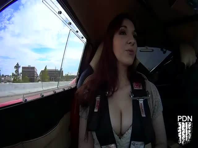 Sexy Redhead's Reaction to Monster Shelby Acceleration