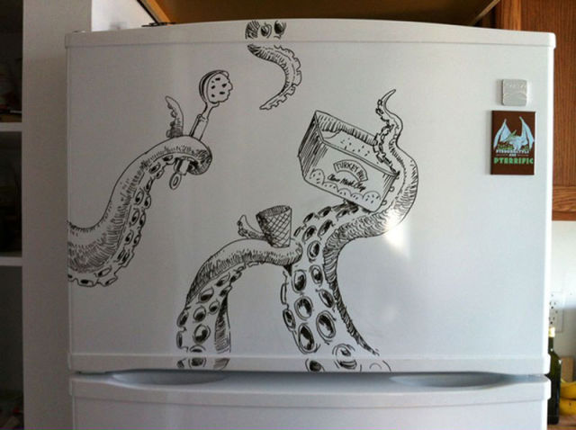 Crazy fridge art with dry erase marker 12 pics for Cute whiteboard drawings