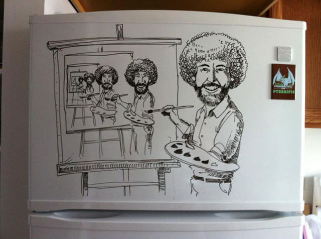 Crazy fridge art with dry erase marker 12 pics picture for Cute whiteboard drawings
