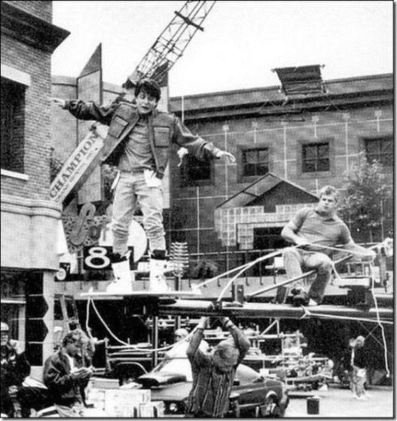 Fun Set Photos from Classic Movie Shoots