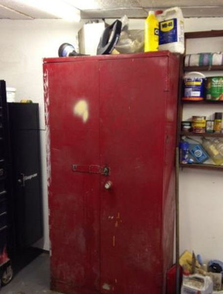 Garage Cabinet Keeps Secret Hidden