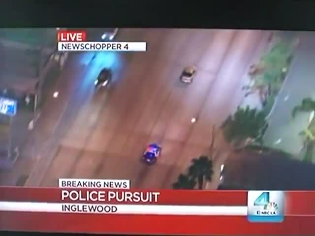 Guy Films Police Chase on Live TV When Suddenly… Epicness Happens!