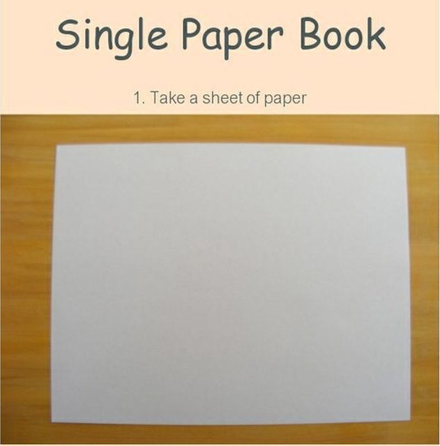 Make Your Own One Page Book