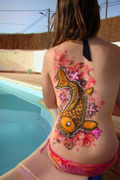 Girls with Graffiti Body Art