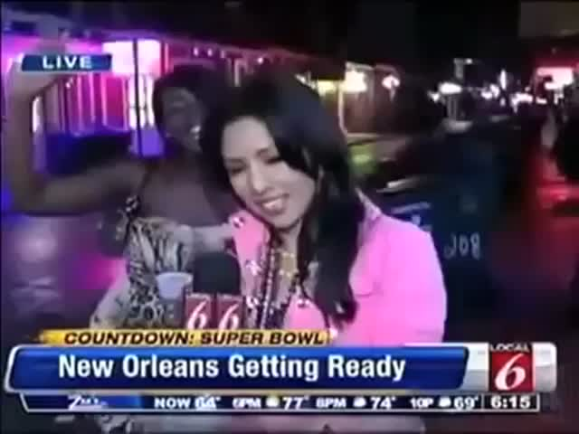 News Reporter Owns Video Bomber like a Boss