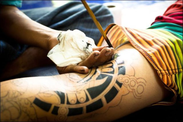 Bamboo Tattoos Are Not for the Faint-hearted