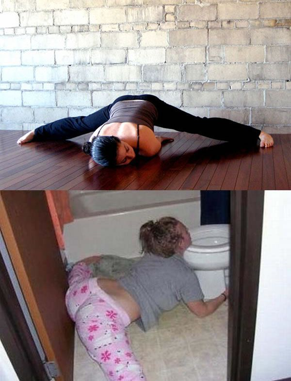 Yoga Is Effortless When You're Drunk
