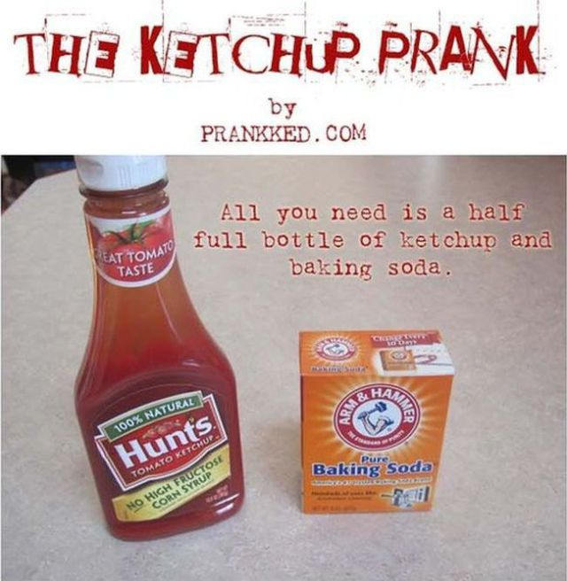 Setting Up Your Own Ketchup Prank