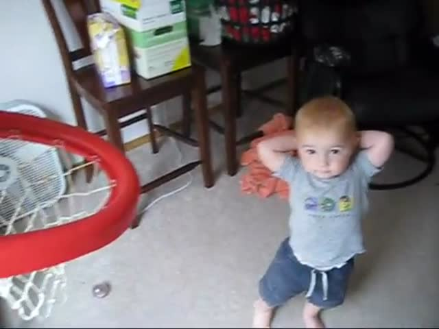 2-Year-Old Kid Does Incredible Basketball Trick Shots