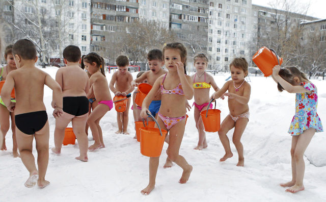 Bizarre Practice of Russian Kindergarten