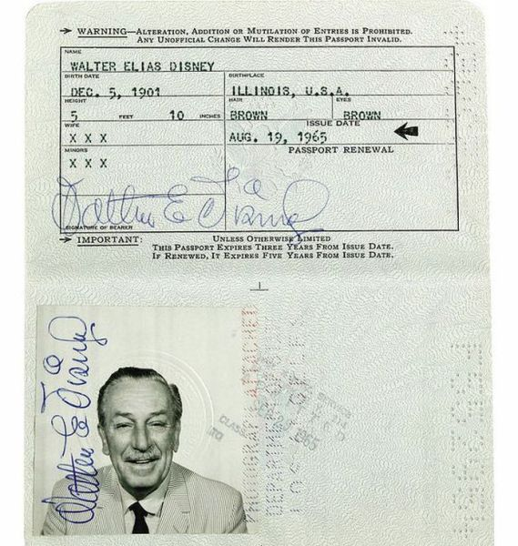 Passport Photos of Iconic Figures in History