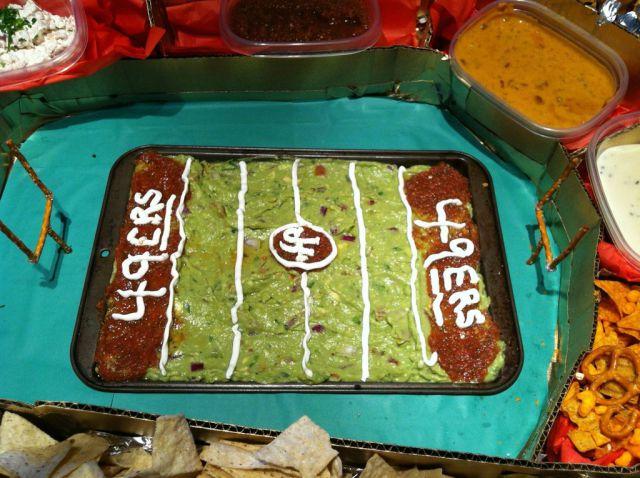 DIY SF 49ers Food Stadium