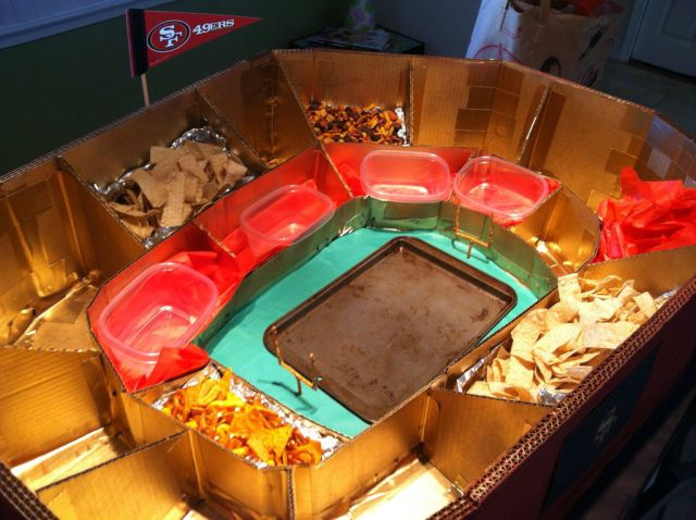 DIY SF 49ers Food Stadium