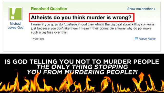 Annoying Questions that Atheists Are Sick of