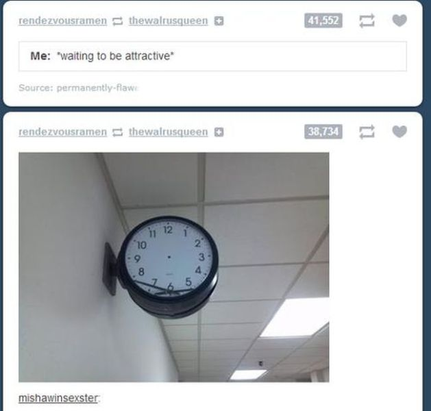 Amusingly Coincidental Tumblr Blogs