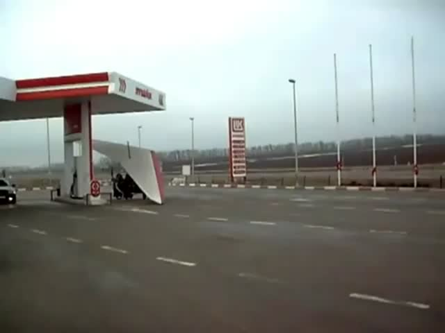 Meanwhile, at a Russian Gas Station