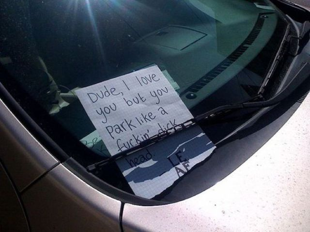 Great Retorts Left As Windscreen Notes