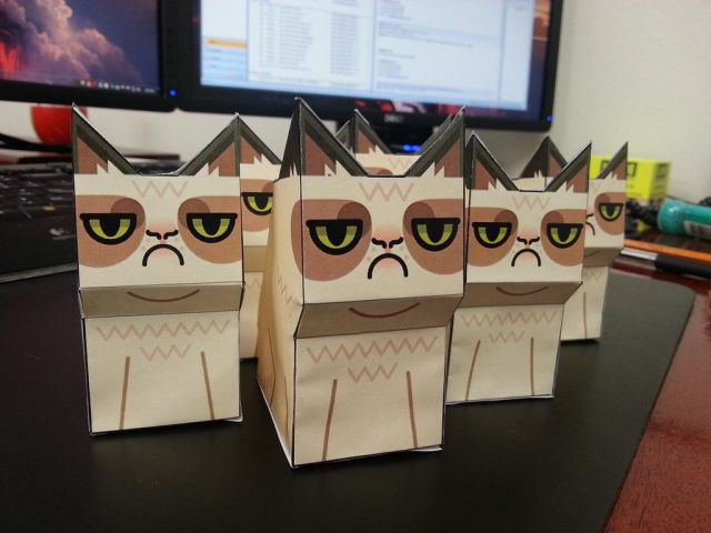 Grumpy Cat is the Perfect Office Decoration