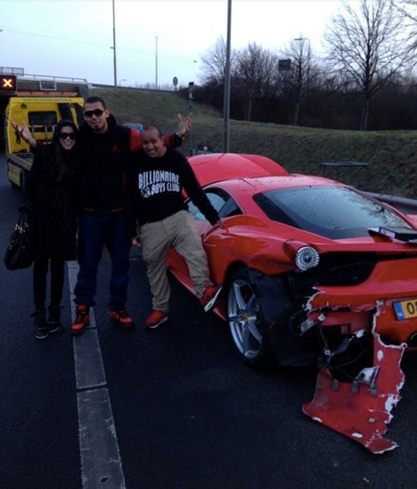 Oops, Not What You Want to Do to a New Ferrari