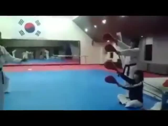 Incredibly Badass Quadruple Kick