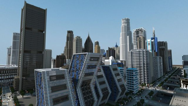 Magnificent Minecraft City Renderings