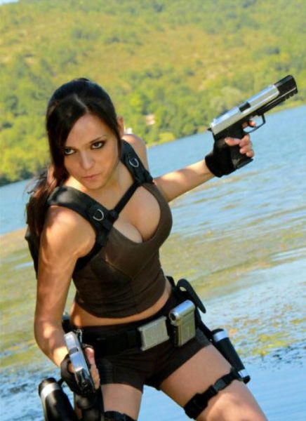 It's All about the Boobs in Lara Croft Cosplay