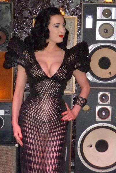 The First Ever 3D Printed Dress for Dita Von Teese