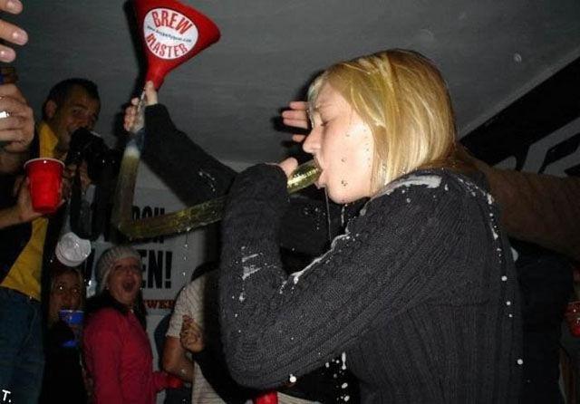 Binge Drinking Beer-Bonging Babes