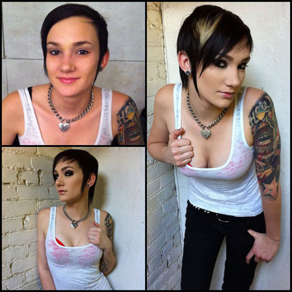 Porn Stars Before And After Their Makeup Makeover 93 Pics -2989