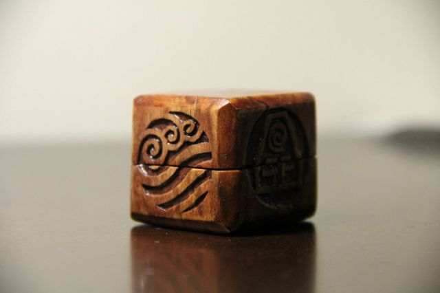 Artistic Wooden Ring Inspired by The Last Airbender